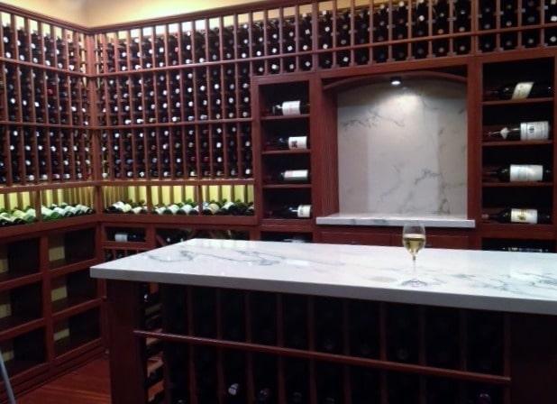 Back Wall Denver Residential Custom Wine Cellar Construction