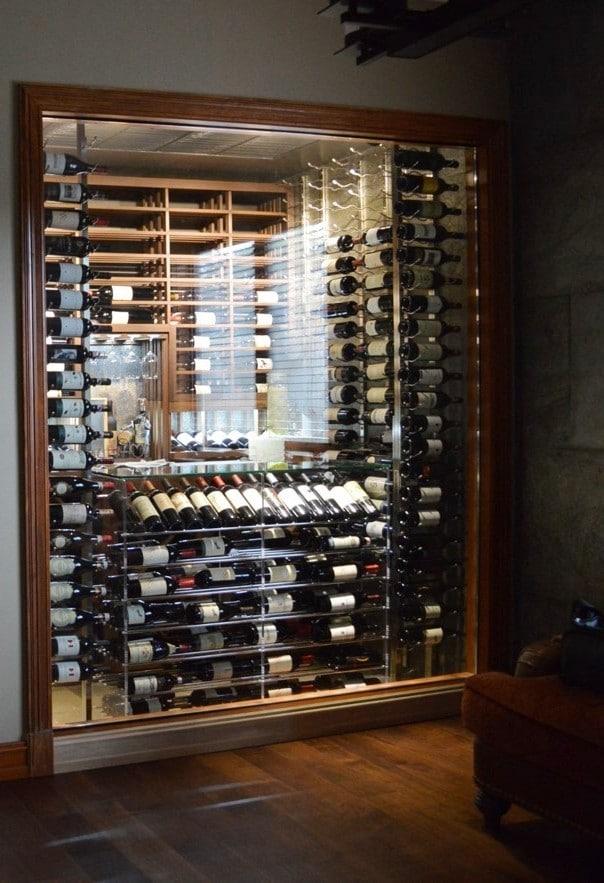 Contemporary Custom Wine Cellar by Denver Builders
