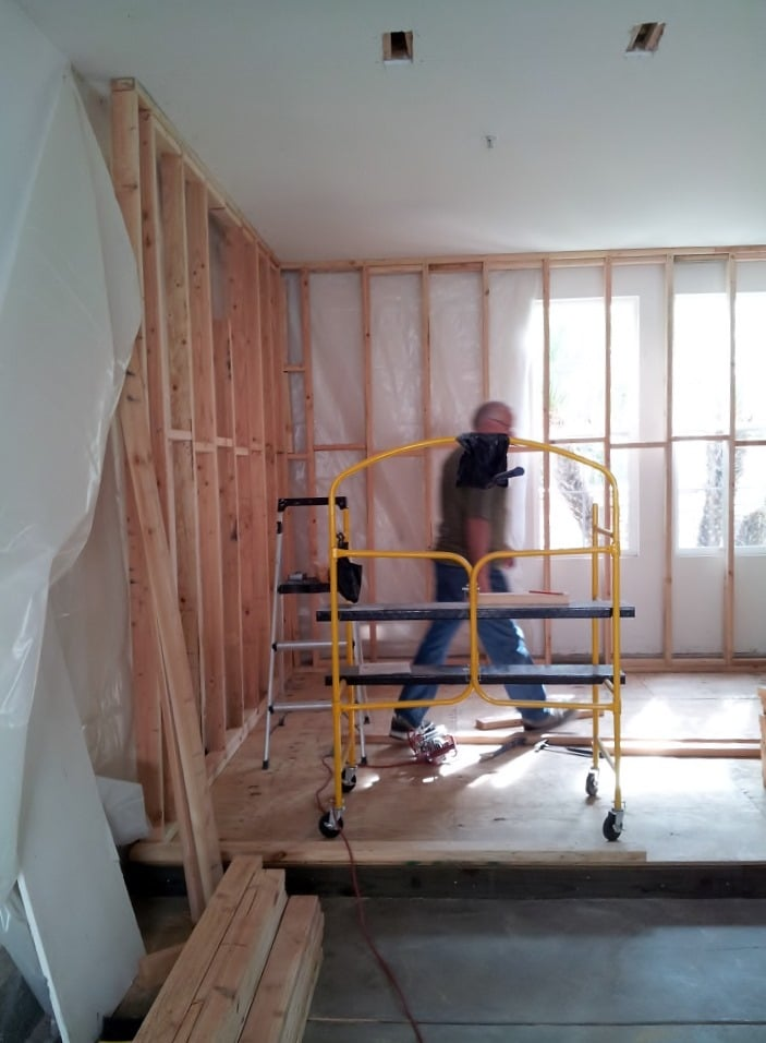 Ongoing Denver Residential Home Garage Custom Wine Cellar Construction