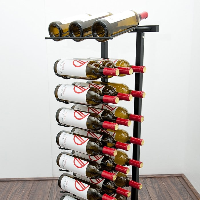 Label Forward Orientation Free Standing Wine Rack