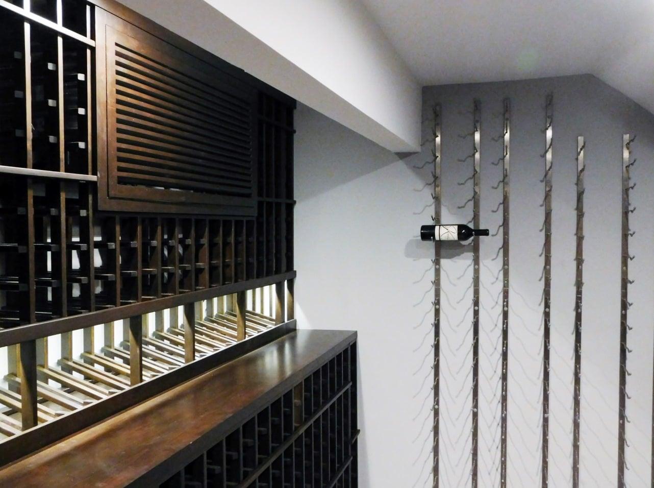 Alder Wood and VintageView Metal Wine Cellar Racks