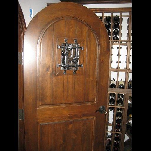 Chianti Wine Cellar Door Made of Solid Wood