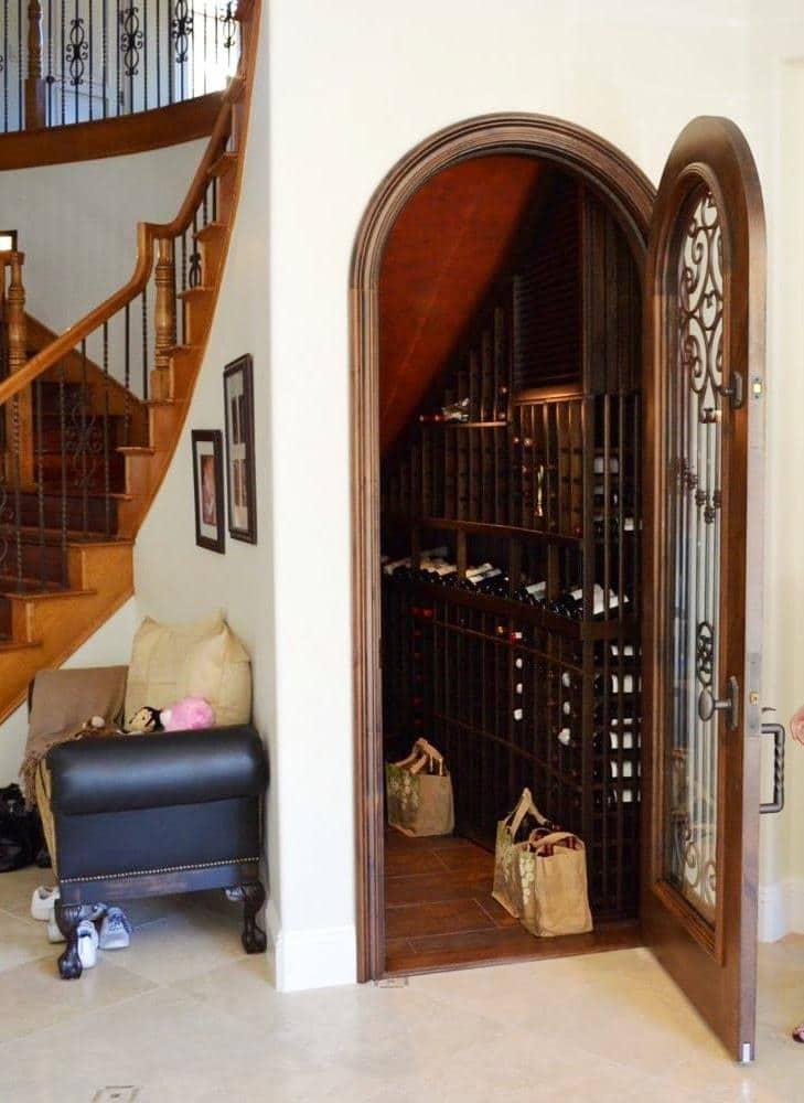 Custom Wine Cellar Door Designed by an Expert