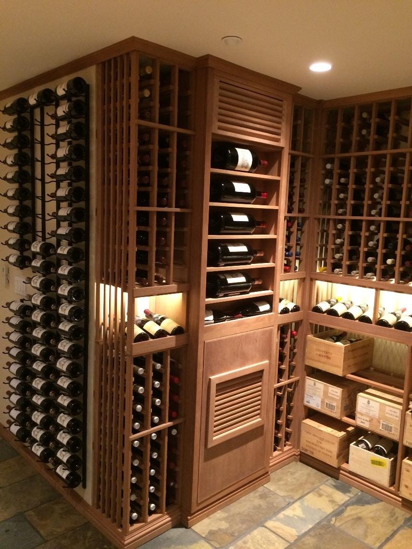 Mahogany Wood Wine Cellar Racks