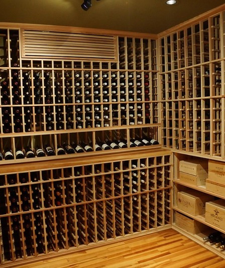 Recessed Can Light in a Wine Cellar