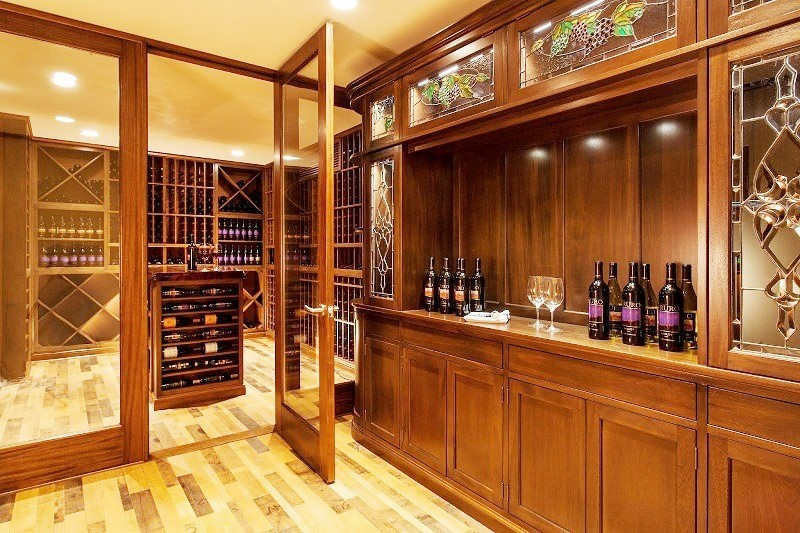 Impressive and Functional Design for a Home Wine Cellar and Tasting Room