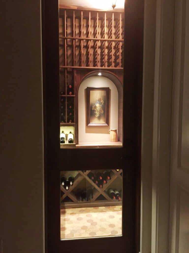 Custom Home Wine Cellar with Beautiful Racking