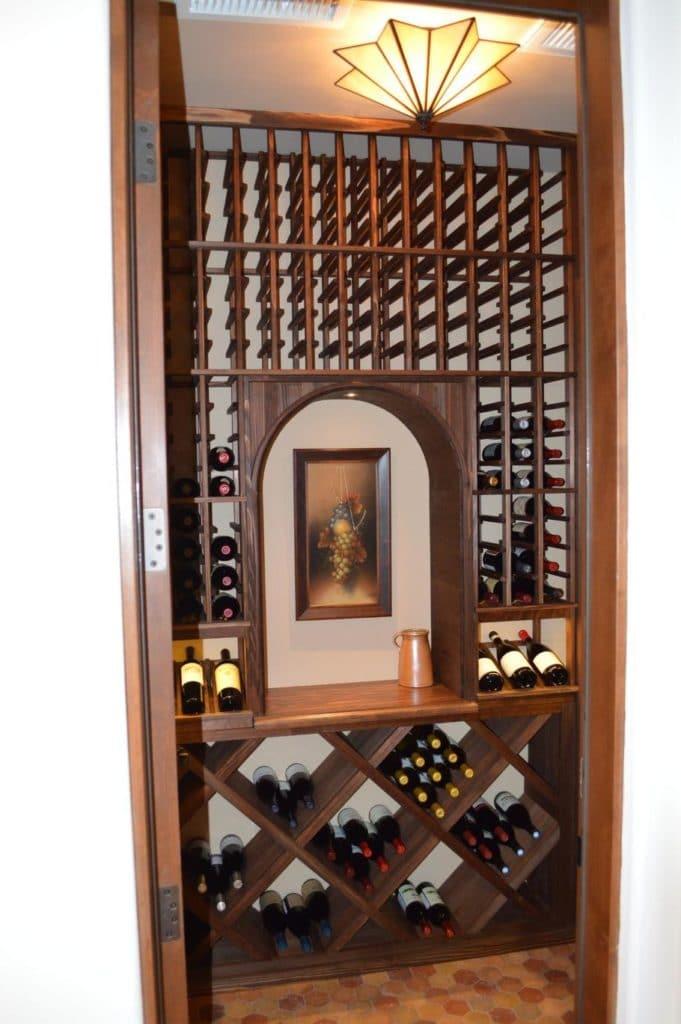 Wine Racks on the Back Wall