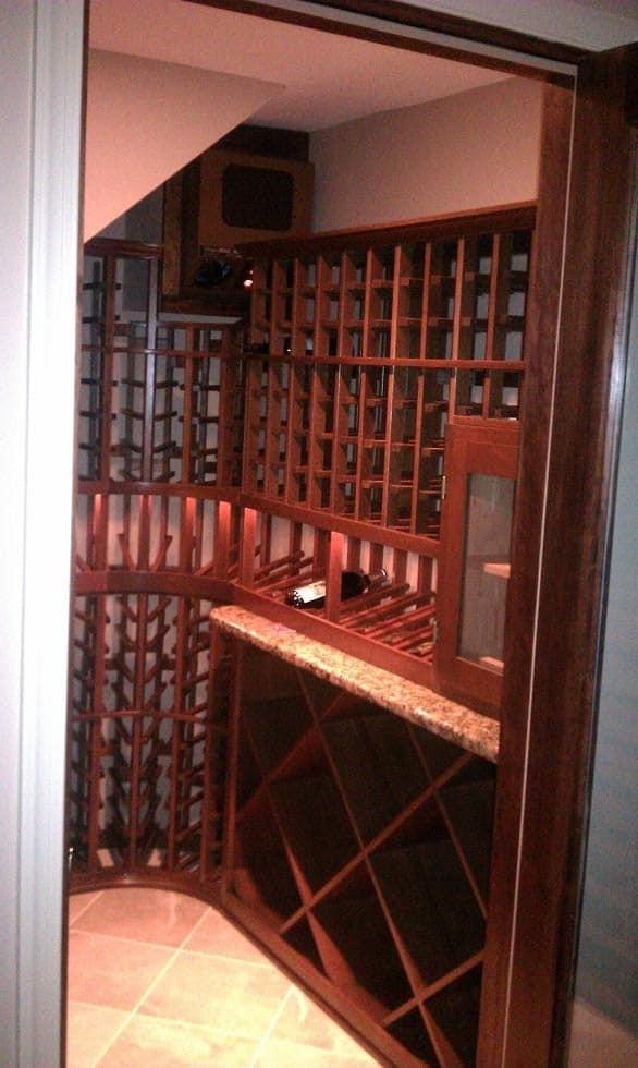 Custom Wine Cellar Design Under the Stairs