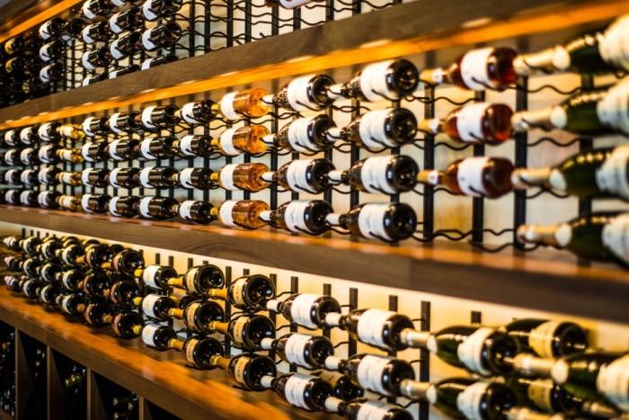 Modern Custom Commercial Wine Cellar with VintageView Wine Racks