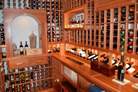 Custom Wine Cellar Design with Unique Wine Racks