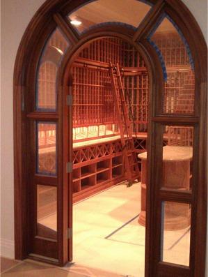 Stylish Custom Wine Cellar Design
