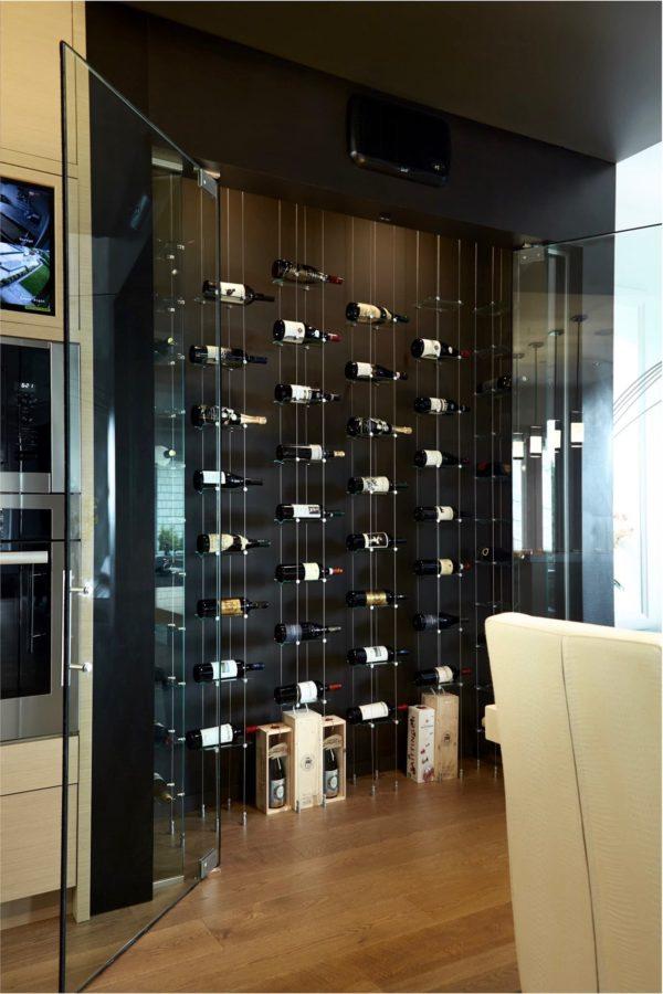 Modern Floating Wine Racks Custom Wine Cellar